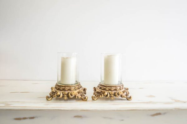 $10 Gold Candle Holders