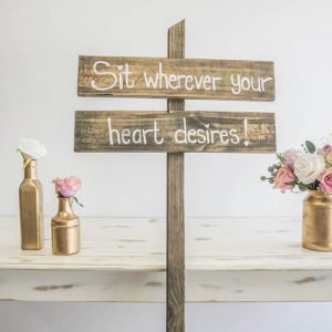 $15 Sit Wherever your heart desires
