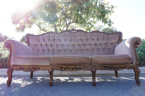$150 Latte Vintage 3 Seater Lounge