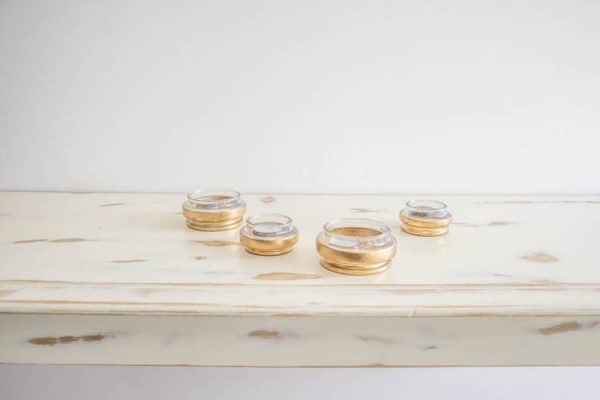 $2 Gold Tea Light Holders