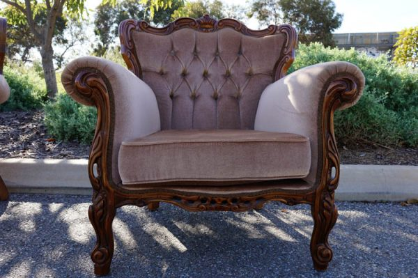 $50 Vintage Latte Arm Chair