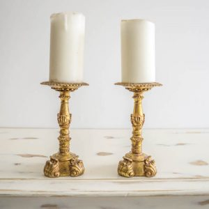 Tall-gold-pillar-candle-stands-10-each