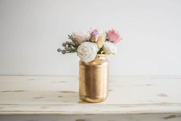$10 Large Gold Vase