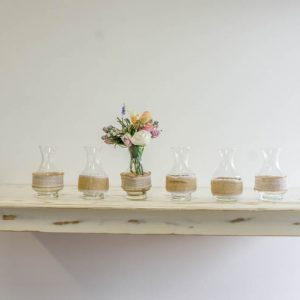 $5 Hessian decorated vases