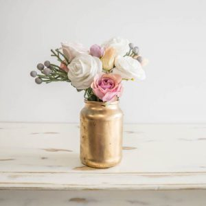 $5 Small Gold Vase